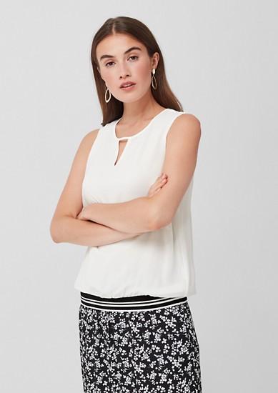 Double Layer-Bluse mit Rippbund