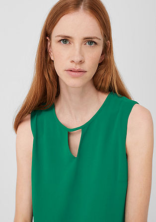 Double-layer blouse with a ribbed trim from s.Oliver