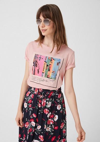 Tričko zžíhané příze, snatištěnou fotografií