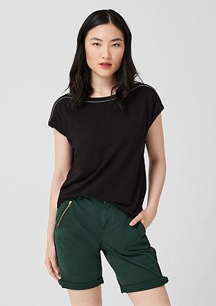 T-Shirt mit Zierbordüre