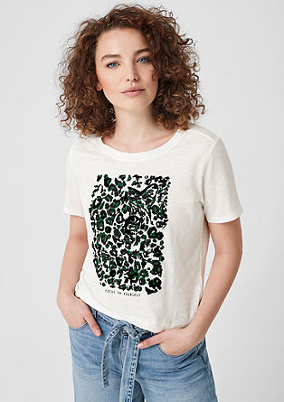 Flammgarnshirt mit Animal-Print