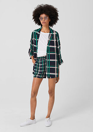 Oversized check blouse blazer from s.Oliver