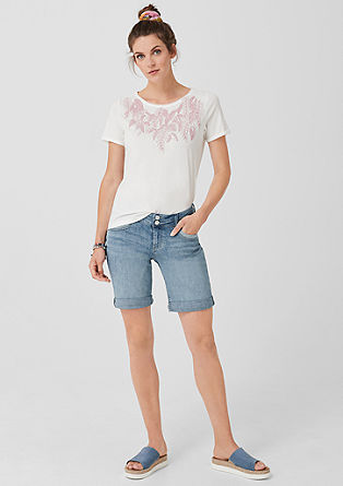 Smart bermuda: denim short met stretch