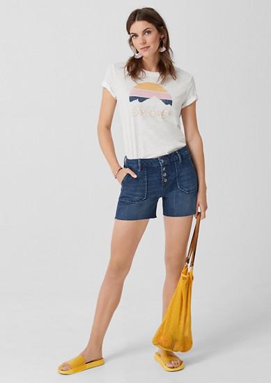 Smart Short: temne jeans hlače