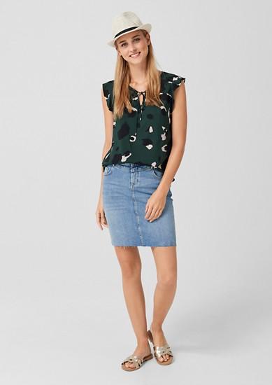 ležérní džínová sukně