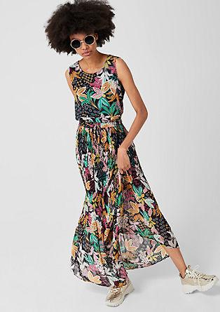 Maxi šaty s plisovanými sklady