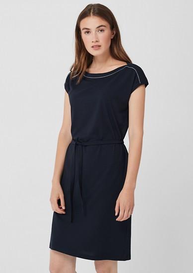 Jerseykleid mit Zierbordüre