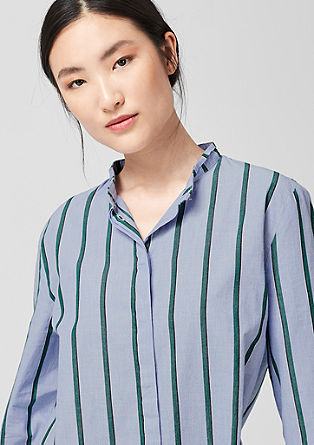 Cotton blouse with stripes from s.Oliver