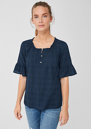 Playful blouse with textured pattern from s.Oliver