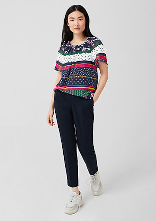 Chiffon Carmen blouse from s.Oliver