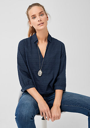 O-Shape-Bluse im Karo-Look