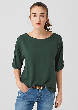 Viscose blouse with slit sleeves from s.Oliver