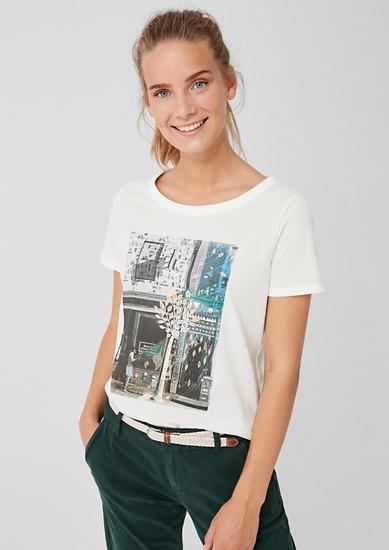 T-shirt en jersey à imprimé photo de s.Oliver