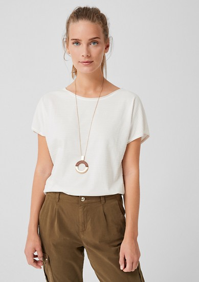 Jersey shirt met gestructureerd motief
