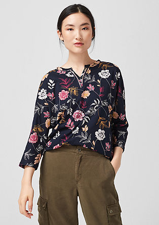 Tunic top with a floral print from s.Oliver