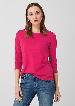 Shirt met ajourmotief