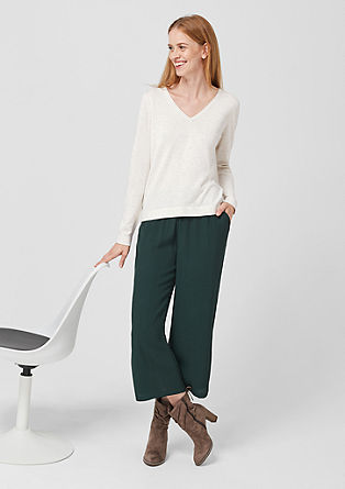 V-neck viscose blend jumper from s.Oliver