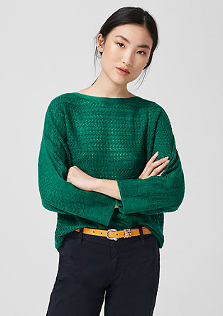 Knit jumper with an openwork pattern from s.Oliver