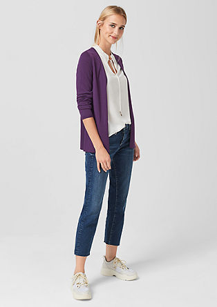 Cardigan with a ribbed lower hem from s.Oliver