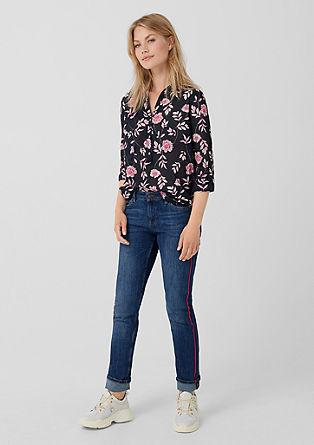 Shape Slim: jeans hlače s črtami smoking hlač