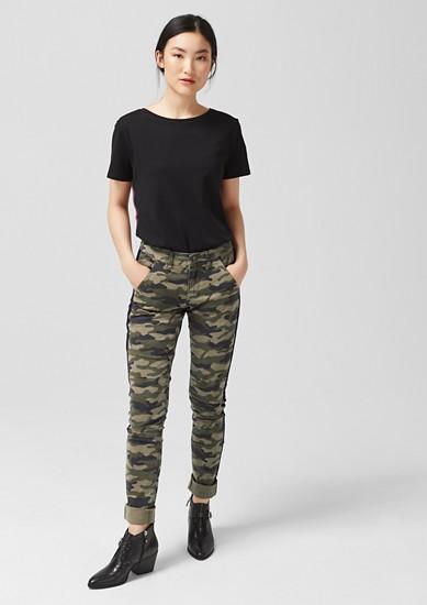 Shape superskinny: broek met camouflagemotief