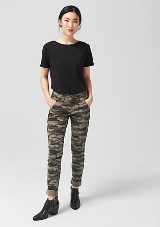Shape Superskinny: camouflage trousers from s.Oliver