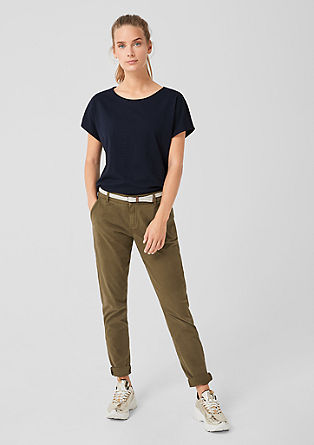 Smart Chino: twill trousers with a belt from s.Oliver