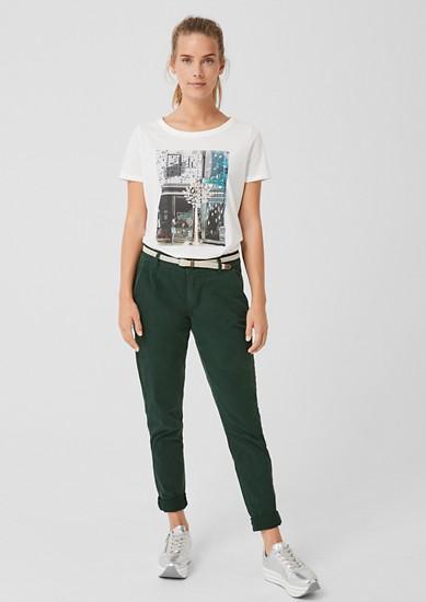 Smart Chino: keprové kalhoty s opaskem