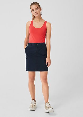 Twill skirt in a cargo style from s.Oliver