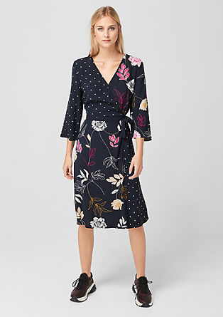 Mixed pattern wrap dress from s.Oliver
