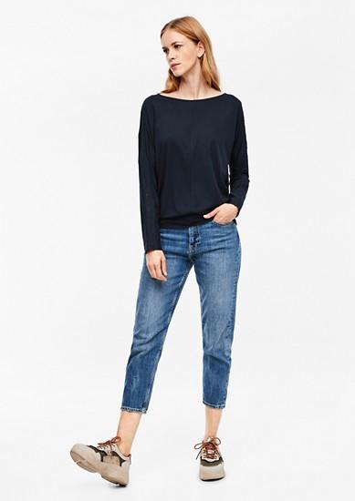 tričko s dlouhým rukávem s háčkovanou krajkou