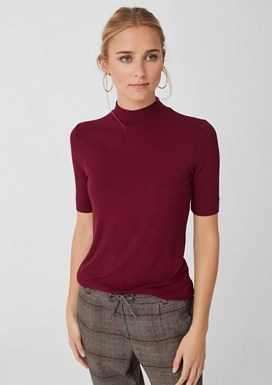 Rippshirt aus Viskose
