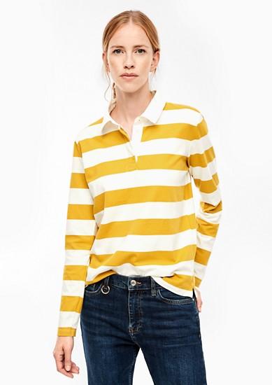 Poloshirt mit abgesetztem Kragen