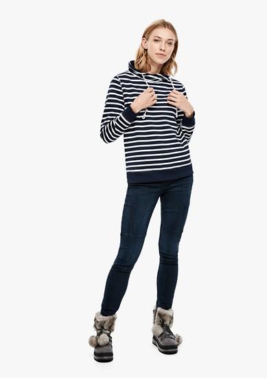 Geringeltes Turtleneck-Sweatshirt