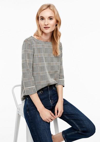 Jacquard-Sweatshirt mit Piping