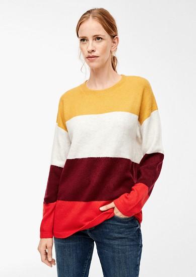 Pull en laine mélangée à larges rayures de s.Oliver