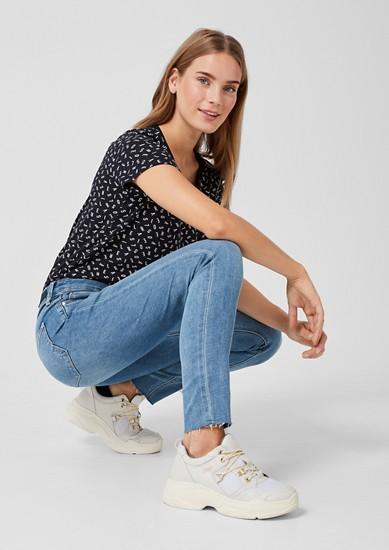 Shape superskinny: jeans met rafels