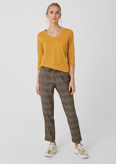 Smart Chino: pantalon à carreaux prince-de-galles de s.Oliver