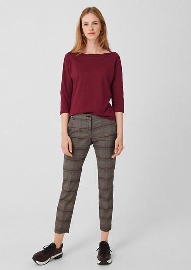 Pantalon de jogging à motif à carreaux prince de galles de s.Oliver