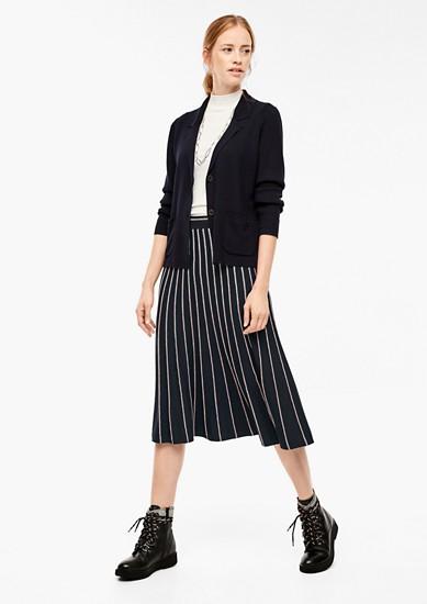 pletená sukně s pruhovanou strukturou