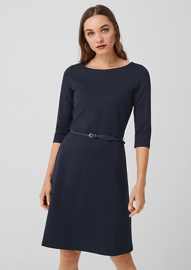 Clean jersey dress with a belt from s.Oliver
