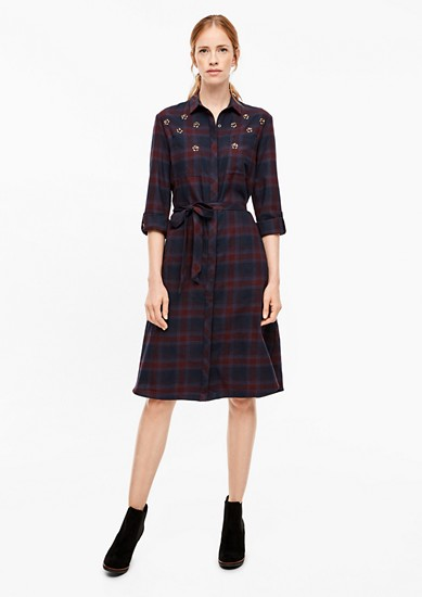 Flannel dress with appliqués from s.Oliver