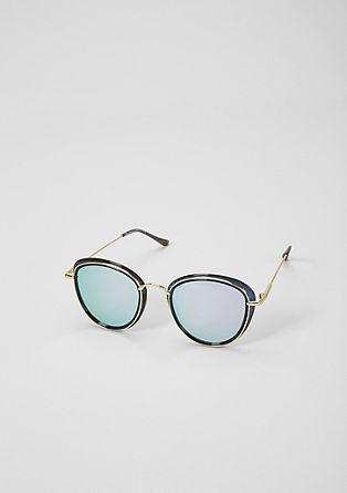 Panto-Sonnenbrille im Layering-Stil