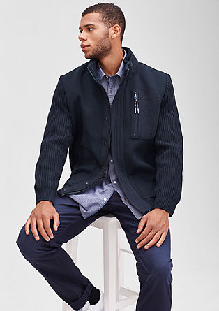 Mixed fabric jacket from s.Oliver