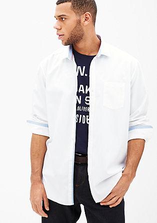 Regular: Hemd mit Kontrast-Details
