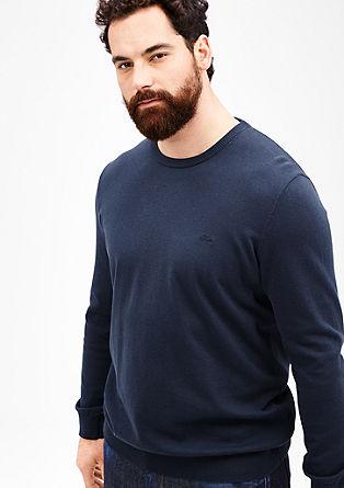 Pulover iz gladke fine pletenine