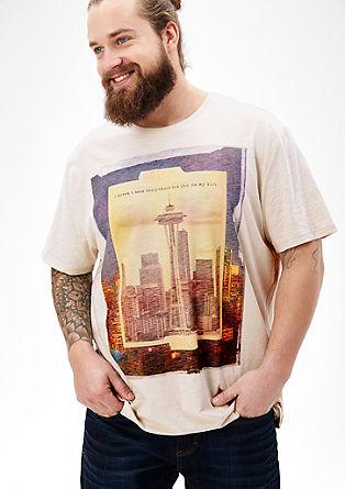 Flammgarn-Shirt mit Frontprint