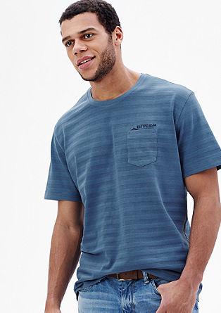 Gestreept shirt met een borstzak