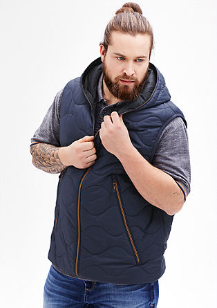Quilted body warmer with neon accents from s.Oliver
