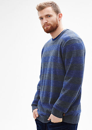 Knit jumper with striped pattern from s.Oliver